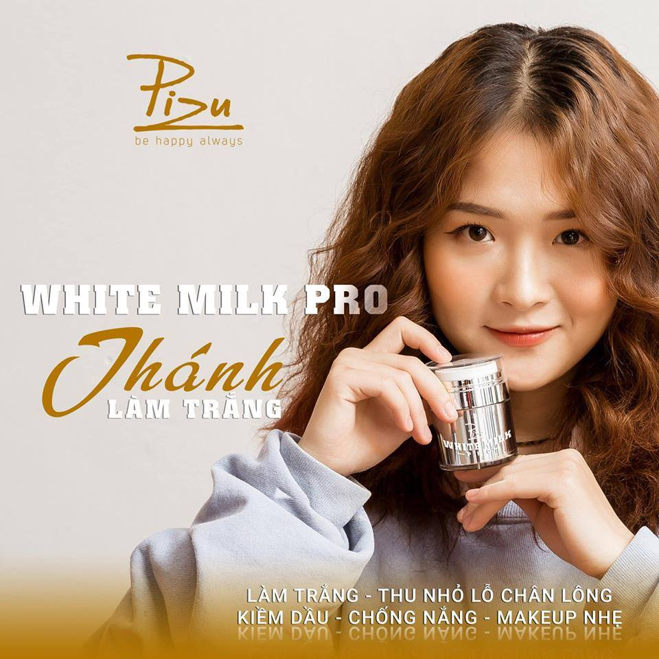 Kem trắng da White Milk Pro Pizu