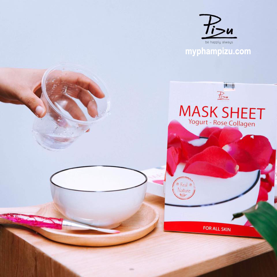Mặt nạ sữa chua Hoa Hồng, Mask sheet Yogurt - Rose Collagen